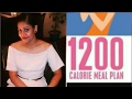 My 1200 calorie meal plan to lose 25 kg