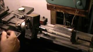 токарная обработка конусов  Ч8  Установка каретки по градижской тангенсной линейке