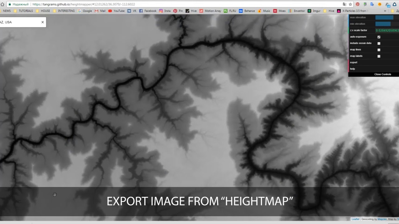 3D Map Path Builder (AE Displacement) : Creating Nesessary Maps