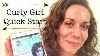 Quick Start the Curly Girl Method, Beginner