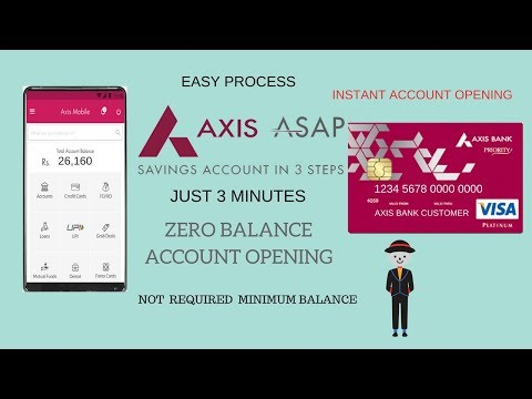 How To Open Axis Asap Account Online Zero Balance Instant Axis Bank Account Opening Youtube
