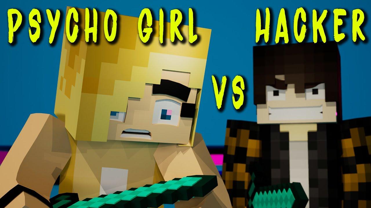 Psycho Girl vs Hacker Compilation ♫ Minecraft Songs