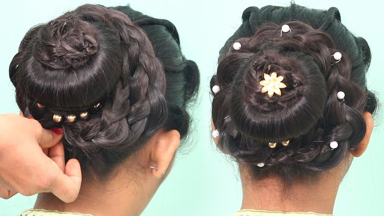 3 Easy Party Hairstyles For New Year Amazing Hairstyles 2020 Perfect Braided Bun Hairstyles Youtube