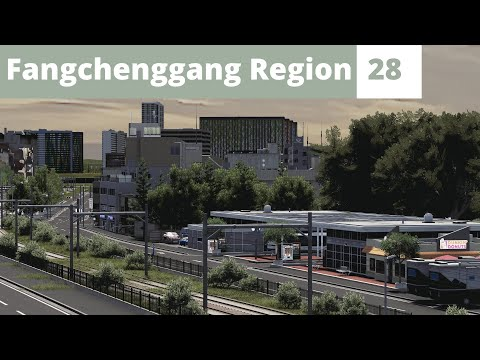 Double Bus Stop | Cities Skylines | Part 28 | Fangchenggang Region | English [Eng] |