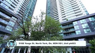 5168 Yonge St. North York, On. M2N 0G1, Unit ph603 / HD / Virtual Tour