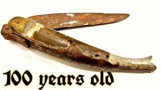Antique Knife Awesome Restoration.