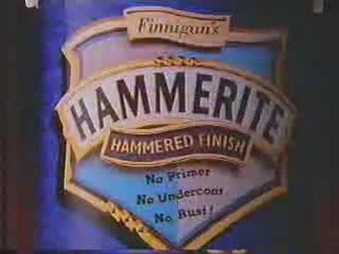 ANY OLD IRON ? !!! hammerite advert LOVED IT!!!  ... Share if you remember