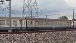 des trains qui passent  :  Pierrelatte et bifurcation de  Lapalud - TVG   TER   IC et FRET