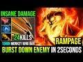 15Min MKB [Clinkz] The Best Hero to Burst Down Enemy in 2 Seconds RAMPAGE 24KIlls By DarkWend Dota 2
