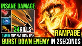 15Min MKB [Clinkz] The Best Hero to Burst Down Enemy in 2 Seconds RAMPAGE 24KIlls By DarkWend Dota 2