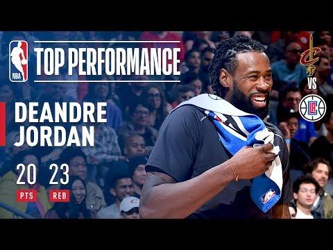 DeAndre Jordan Puts Up 20 Points & 23 Rebounds! Against The Cavaliers