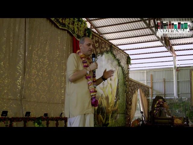 Е.М. Гаура Кришна прабху на Фестивале Санкиртаны. Садху Санга 2019