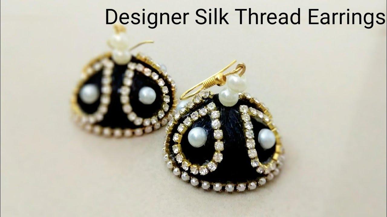 DIY- How to Make Designer Silk Thread Jhumka? Making of Silk ...