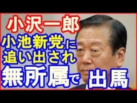 小沢一郎&玉城デニー、希望の党への合流を断念 無所属出馬へ