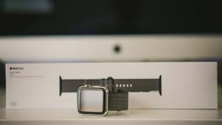 Apple Watch Black Woven Nylon Unboxing