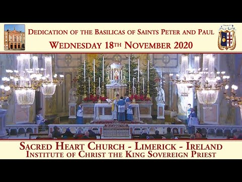 Wednesday 18th November 2020: Dedication of the Basilicas of Saints Peter and Paul