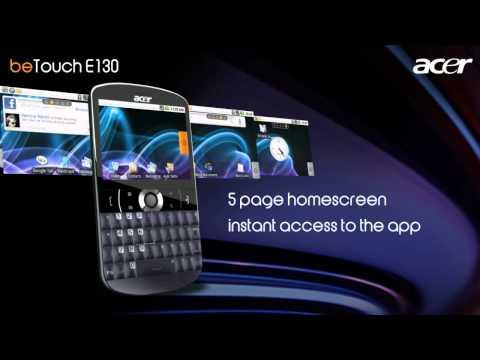 Acer beTouch E130 promo