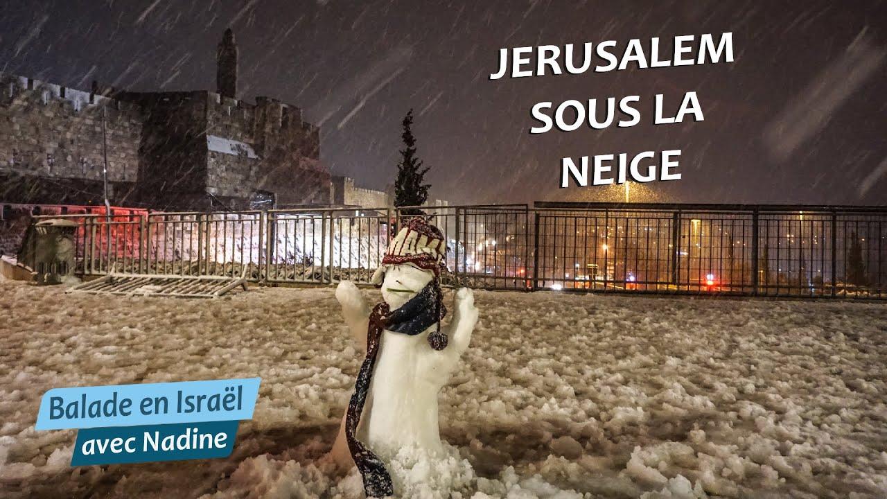 Jérusalem sous la neige – la joie