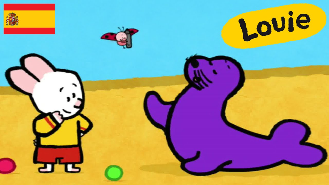 len marino louie dibujame un len marino dibujos animados para nios youtube