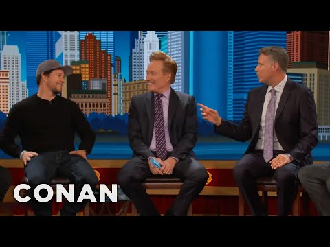 Will Ferrell: Bostonians Go Crazy For Mark Wahlberg   CONAN on TBS