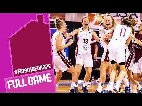 Latvia v Serbia - Full Game - FIBA U16 Women's European Championship 2016