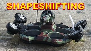 Transformer Amphibious RC TANK with Water Jet Canon! - RC Toys, Remote Control Toys for Kids Play