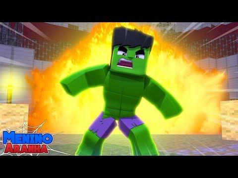 Minecraft: MENINO ARANHA - O HULK APARECEU!!! #231