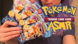 opening pokemon cards xy evolutions booster packs soft spoken asmr