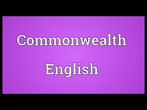 Commonwealth English Meaning