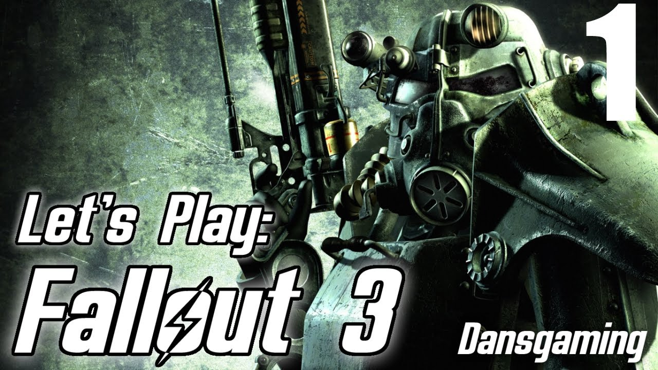 Fallout 3 Let's Play with Dansgaming - Let's Play Fallout 3 - Part 1 -  Walkthrough w/ Dan - Modded PC Version - HD Gameplay