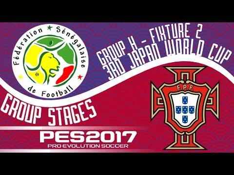 Senegal vs. Portugal - 3rd Japan World Cup - Fixture 2 - PES2017 - 60fps