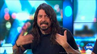 Dave Grohl & Taylor Hawkins - FOO FIGHTERS - 2018 Tour  Australian Tv Interview Jan. 29, 2018