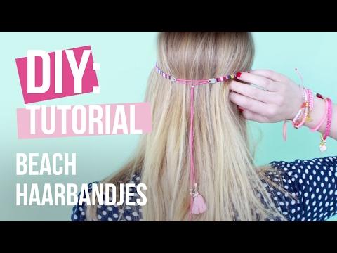 Sieraden maken: DIY Beach haarbandjes ♡ DIY