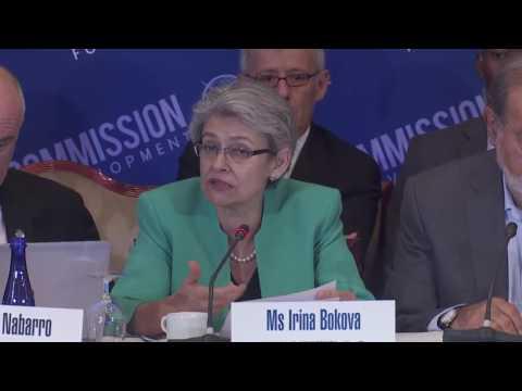 Irina Bokova, Director General, UNESCO, Opening Remarks @ 14th Broadband Commission Meeting, NYC