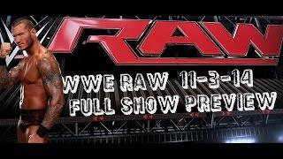WWE RAW 11/3/14 Full Show Preview Buffalo NY First Niagara Center