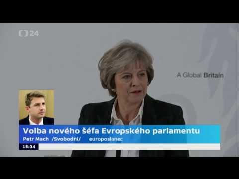 Petr Mach v ČT o projevu britské premiérky