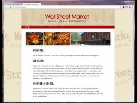 FreshySites - Website Design - Wall Street Market Website Tour