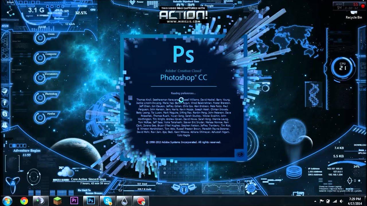 Showing off Interactive Desktop Backround - YouTube