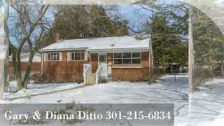 Kensington Maryland - Gary Ditto Listing 3701 Astoria Road