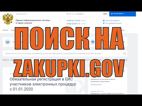 Поиск торгов на Zakupki.gov (еис) в 2020 году