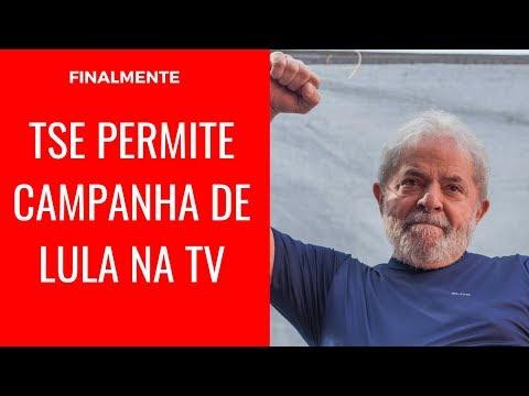 FINALMENTE TSE PERMITE CAMPANHA DE LULA NA TV