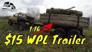 $15 RC Trailer, 1:16 WPL C14.  How to get yours :)