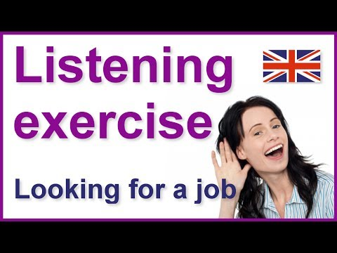 English listening practice | Looking for a job