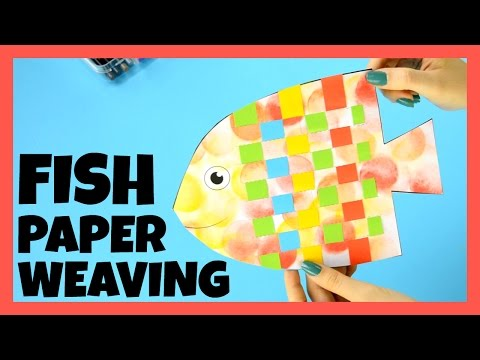Fish Paper Weaving Craft - Paper Crafts For Kids