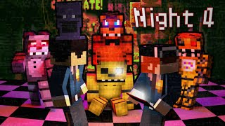 MINE Nights at Freddy's | Night 4  | FNAF Minecraft Roleplay