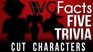 5 Cut Characters - VG Facts Five Trivia Feat. Caddicarus