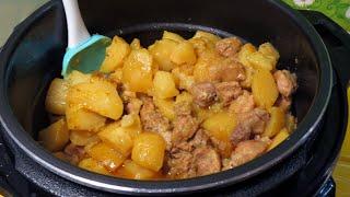 Жаркое хоть на каждый день Вкуснейший картофель с мясом Готовим в мультиварке MIRTA