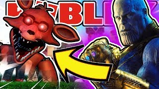 Thanos Makes Fnaf Roblox Fade Away Forever in Roblox Grand Shows RP