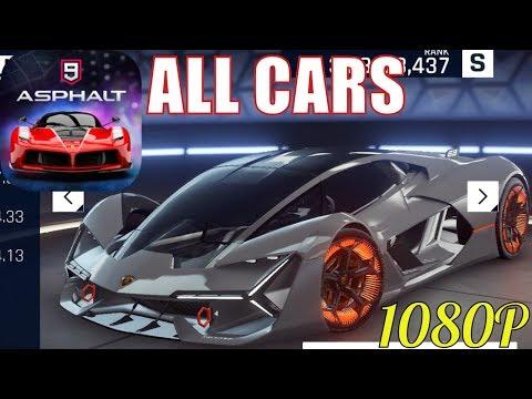 Asphalt 9 Legends - All Cars (Class S,A,B,C,D) [ANDROID/IOS/WINDOWS]