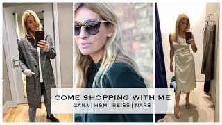 Come shopping with me in Zara, H&M, Reiss, All Saints + More